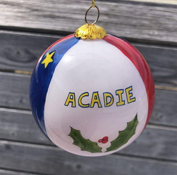 ACA Boules arbre de Noel Acadie