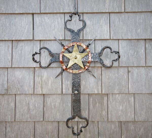 Acadian cross made at our village forge