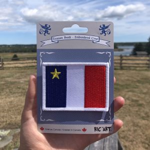 ACA Ecusson Brode Drapeau Acadien / Embroidered Crest Acadian Flag