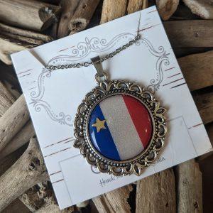Silverlinks-acadian necklace-long colier acadien
